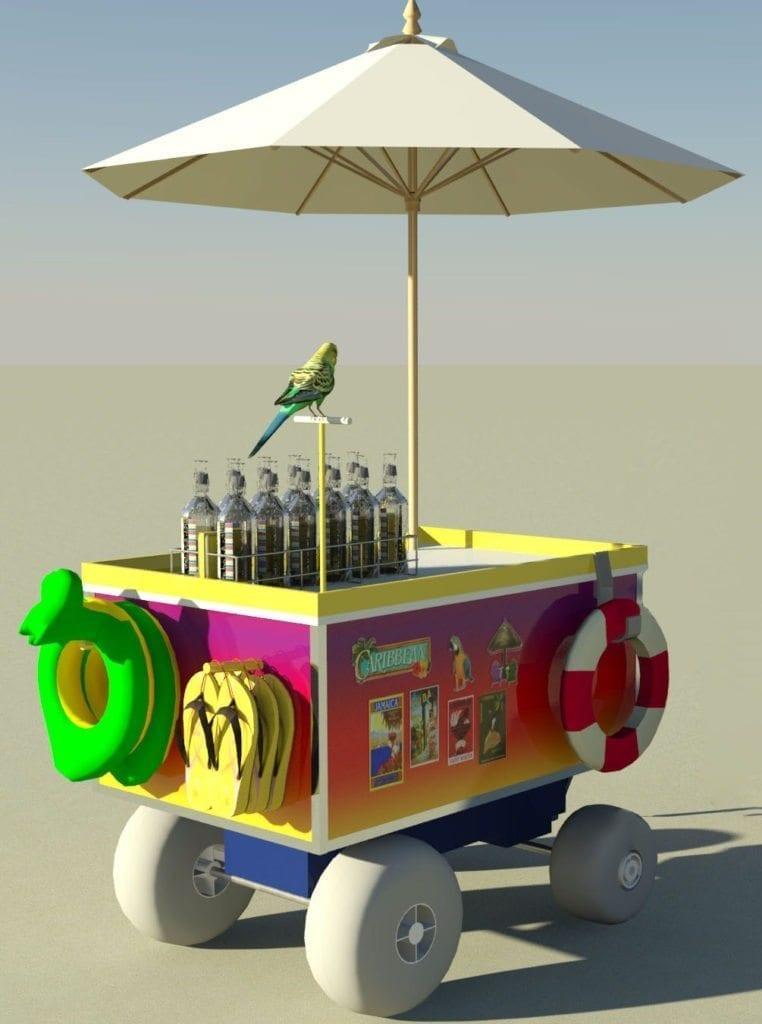 Caribbean Beach Cart Design