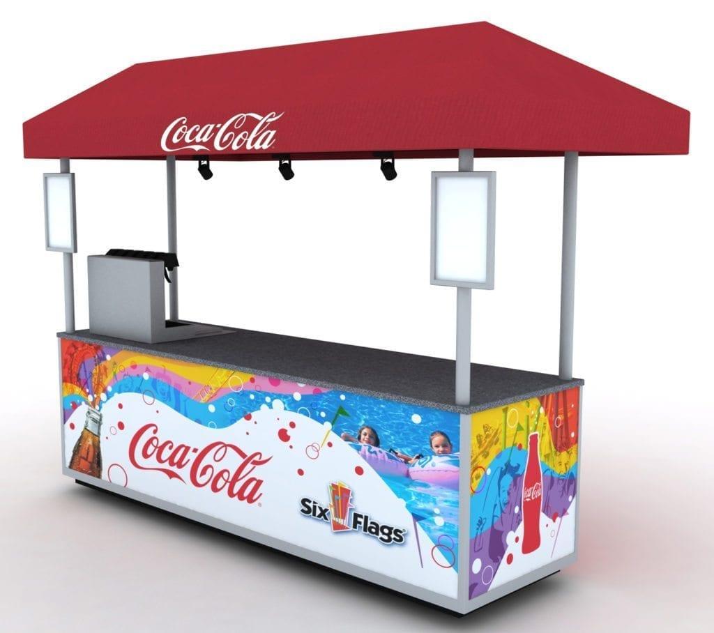 Six Flags Coke Cart