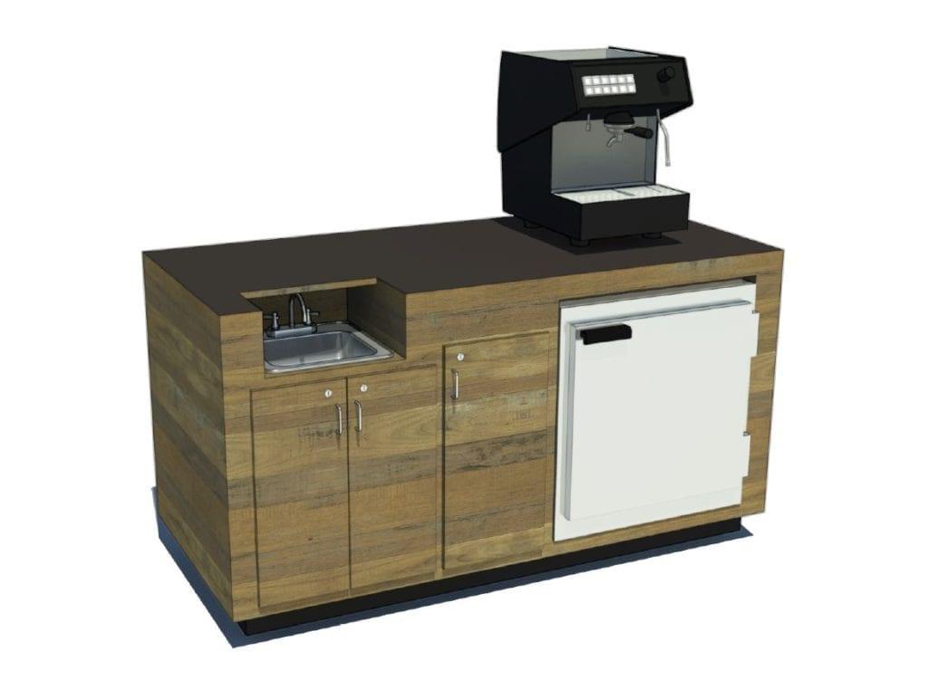 *espresso machine not included